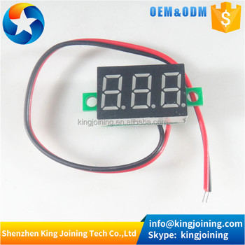 KJ396-G green 0.36 Mini LED Digital Display Voltmeter DC 4.5-30V LED Digital Voltage Voltmeter