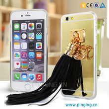 Newest Luxury tassel ornament phone case for huawei honor 3C ,for huawei honor 3C mirror tassels pendant case