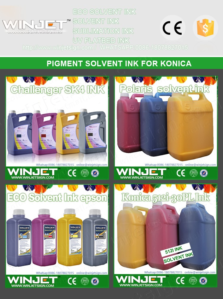 outdoor printer ink konica minolta 512 14pl solvent ink konica 14pl ink