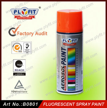 Fluorescent Reflective Acrylic Aerosol Spray Paint