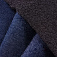 Ming Blue Color Four-way Stretch & Habijabi Bonded with Memberane and Polar Fleece ( Free Sample)