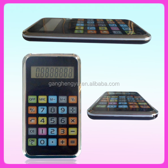 Colorful thin unique gifts cell phone calculator, calculator phone case