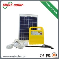 Portable solar kit 3w/10w solar generator price with solar panel for camping