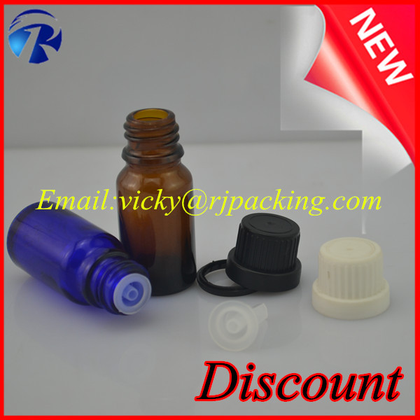 High quality 5ml 10ml 15ml 20ml 30ml amber essential oil glass bottle with insert and screw cap wholesale