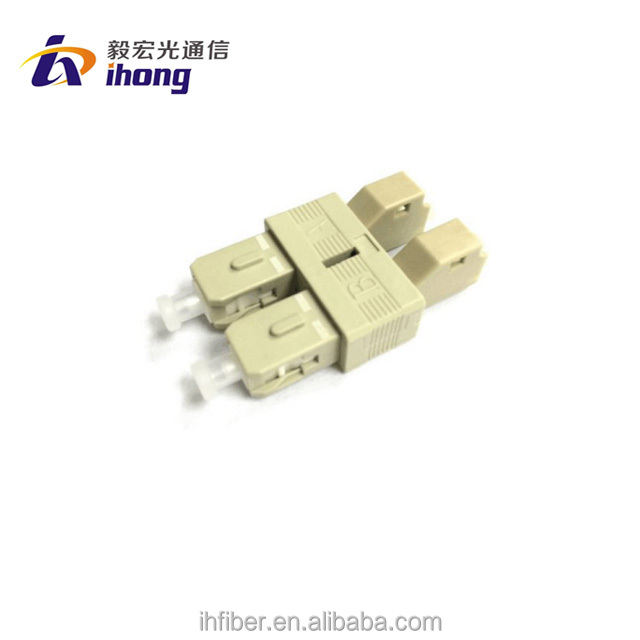 Optical fiber LC female to SC male multimode duplex fiber adapter MM 62.5/125