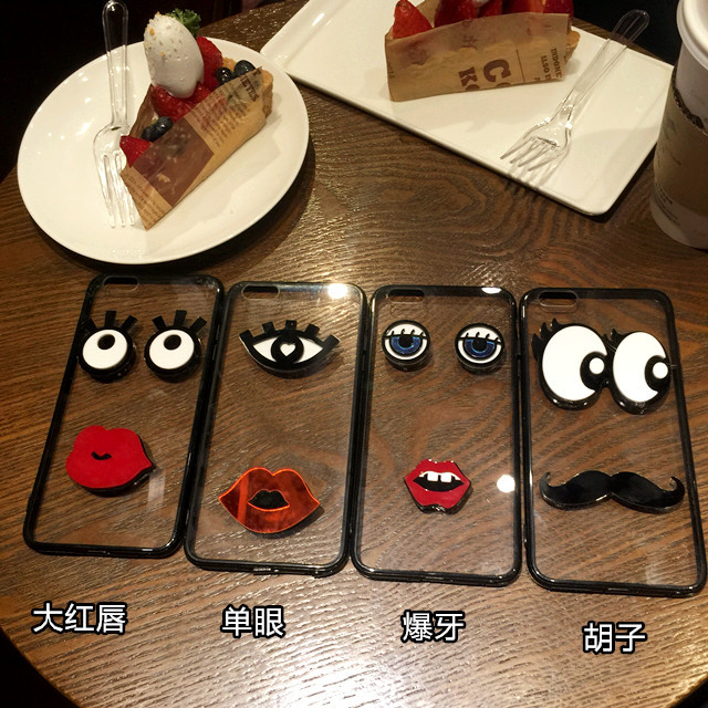 Wholesale big eyes style PC mobile phone case cover for iphone 6 6Plus back cover case