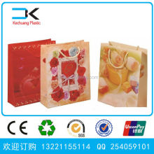 Promotional printing shopping bag, bio-degradable plastic shopping bag
