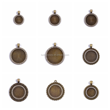 Fashion Fancy Many Shapes Zircon Trays Pendant Charm Pendant Bezel Pendants Blanks Base Settings DIY Accessories Fits Cabochon