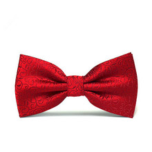 fashion poly silk bow tie for man and girls