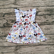China Yiwu Girls Flutter Dress Any Printed Baby Girls Summer Cotton Pearl Dress Cotton Frock Designs Girls