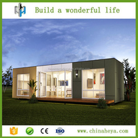 Modern design beautiful glass prefab container homes for vacation