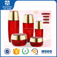 Cosmetic Tubes Packaging Classic Cosmetic Container Glass Bottle Red