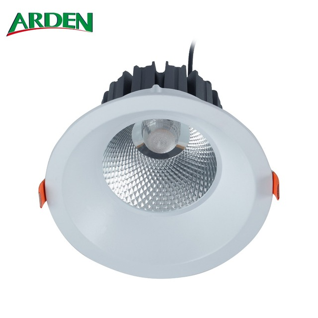 Cutout 175 - 180mm 38W IP65 Deep Recessed LED Downlight With Deep White Reflector