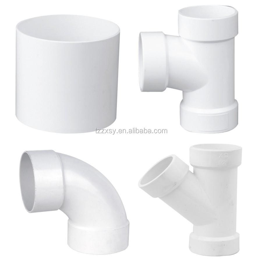 Mm inch drainage fittings pvc sanitary pipe