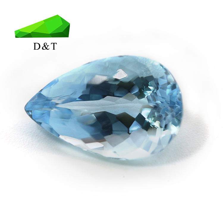 Hot sale beautiful aquamarine stone from wuzhou city pear shape 5*7mm