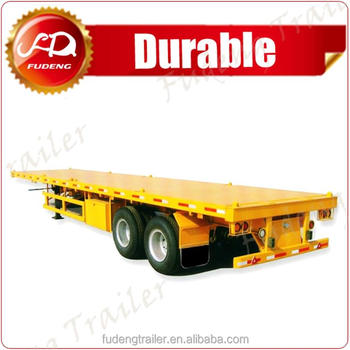 Stable double axle 40ft container trailer price, flatbed semi trailer