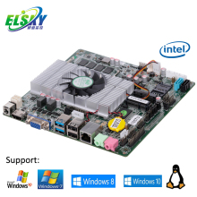 Celeron 1037U HM76 current intel chipset super thin Mini-ITX dual cores 1.8GHz DDR3 Onboard 2G Memory Fan motherboard