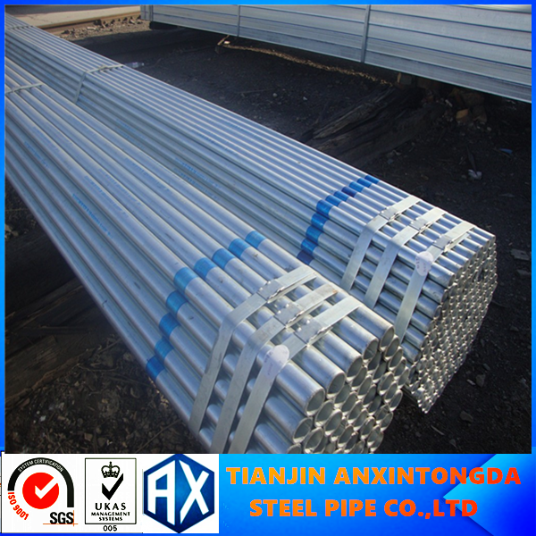 Q235B dn50 hot dipped galvanized steel pipe (G.I Pipes)