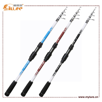 Professional Telescopic Spinning Fishing Rod 2.1m Carbon Rod