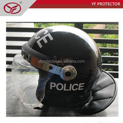 Security Protection full face PC visor police riot control helmet with visor