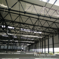 Galvanized steel structure prefabricated factory