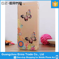 New Design Ultra Thin Shinning Butterfly Pattern Mobile Phone TPU Case for iPhone 5S