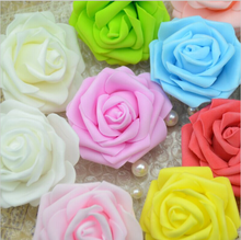 7 Cm Single Heads Artificial Foam Rose Flowers For Home Wedding Decoration Scrapbooking PE Fake Flower Kissing Balls