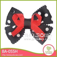 White polka dot and black butterfly red bow lingerie