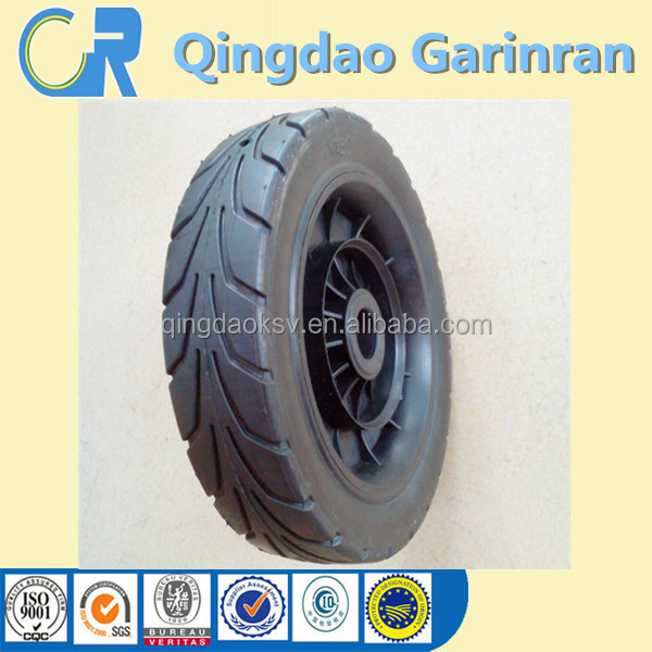 Good Quality 7 Inch Semi-Pneumatic Rubber Wheel