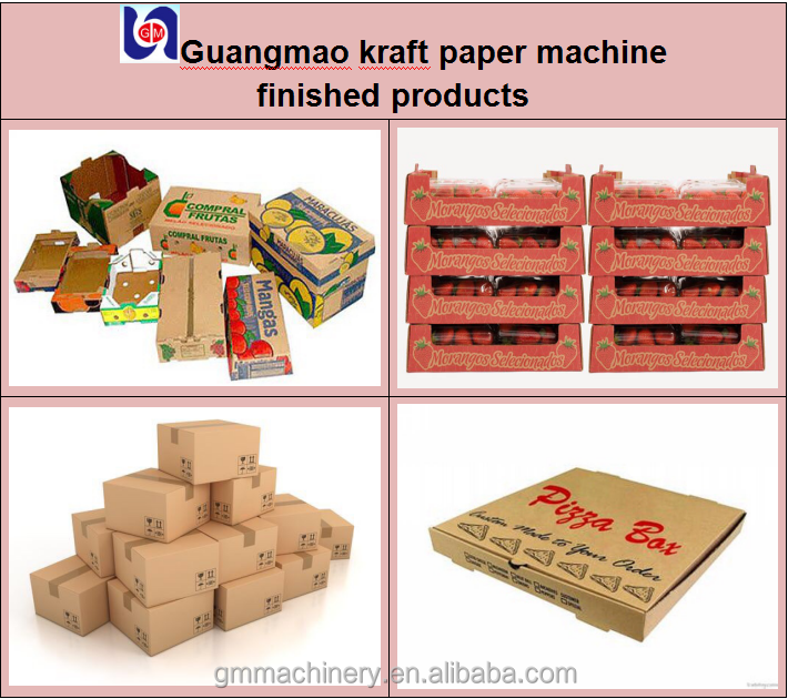 High quality kraft paper machine with raw material like recycled paper and pulp wood,output paper:corrugated paper,craft paper
