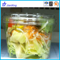 plastic disposable vegetable blister container or box