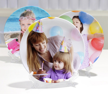 6 inches Sublimation Polymer Custom 3D Photo Plates for Party decorations