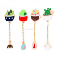 Children Women Clothing Bag Backpack Decor Lapel Pin Mini Cartoon Cactus Series Metal Button Brooches Pins