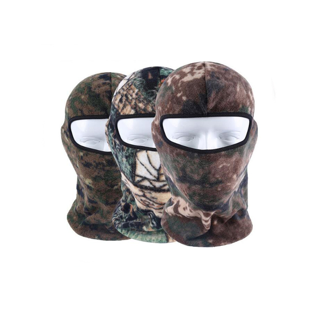 High Quality Outdoor Protection full face ski mask windproof camouflage Winter Beanie fleece balaclava
