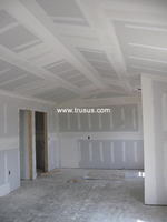 Satisfactory Standard Size Gypsum Board Wave Decorative Gypsum Board
