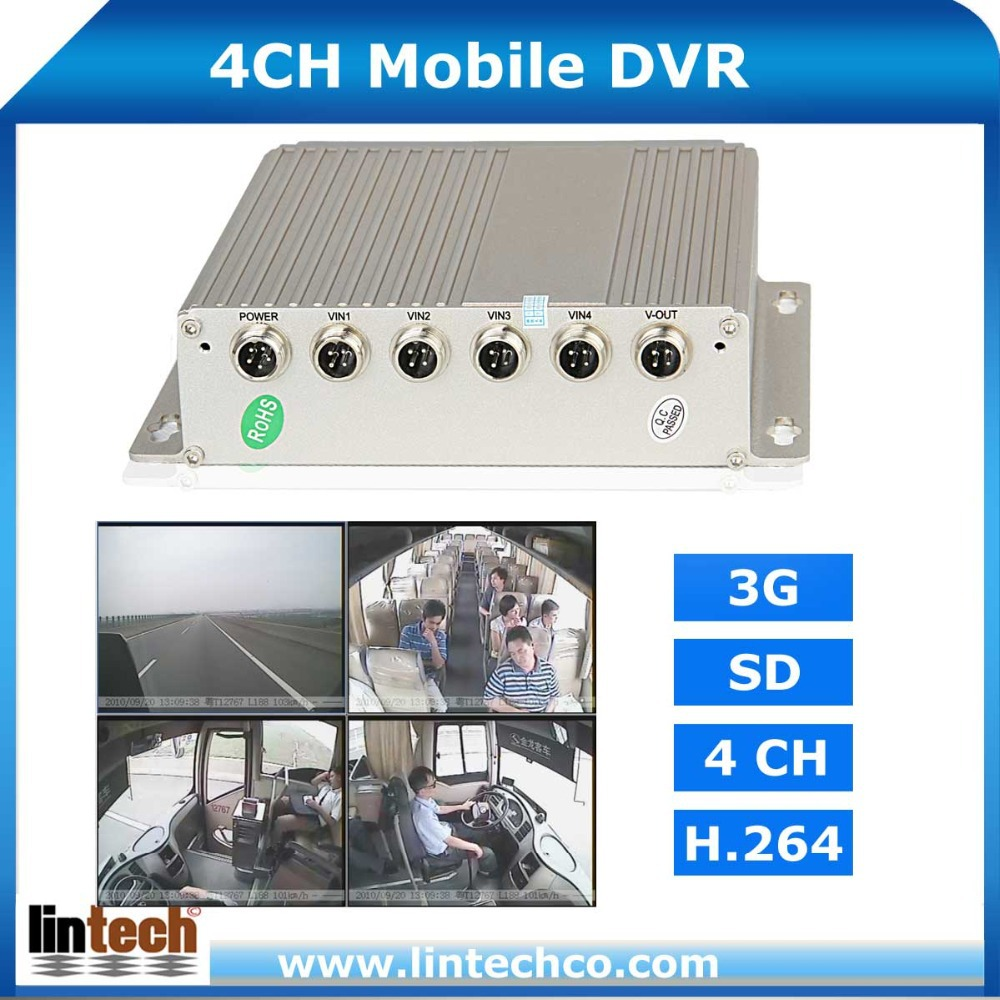 Hard Disk Double SD Card Bus Truck Car Mobile DVR,4ch Mobile DVR