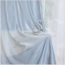 High Thread Modern Luxurious Solid Color Voile White Sheer Curtain