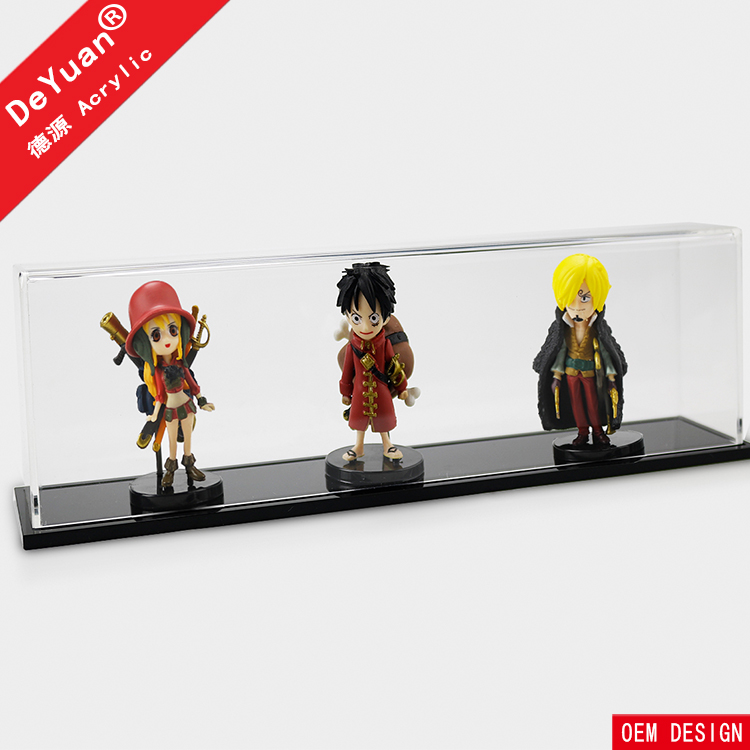 Acrylic Toy Display Case Box With Wooden Base