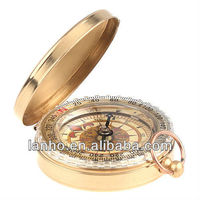 Portable Travel Hiking Outdoor Classic Brass Camping Pocket Watch Style Compass