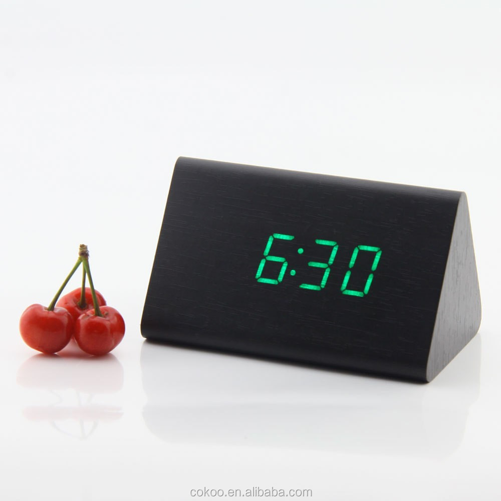usb led clock fan led clock diy Mini Desktop Digital LED Wooden Cube Clock