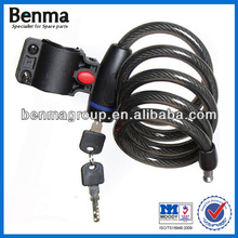 hot sale bicycle spiral lock,safety chain lock for motorcycle,long years development in china