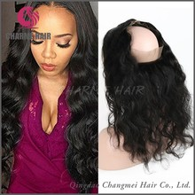 100% brazilian human hair lace 360 lace frontal wig