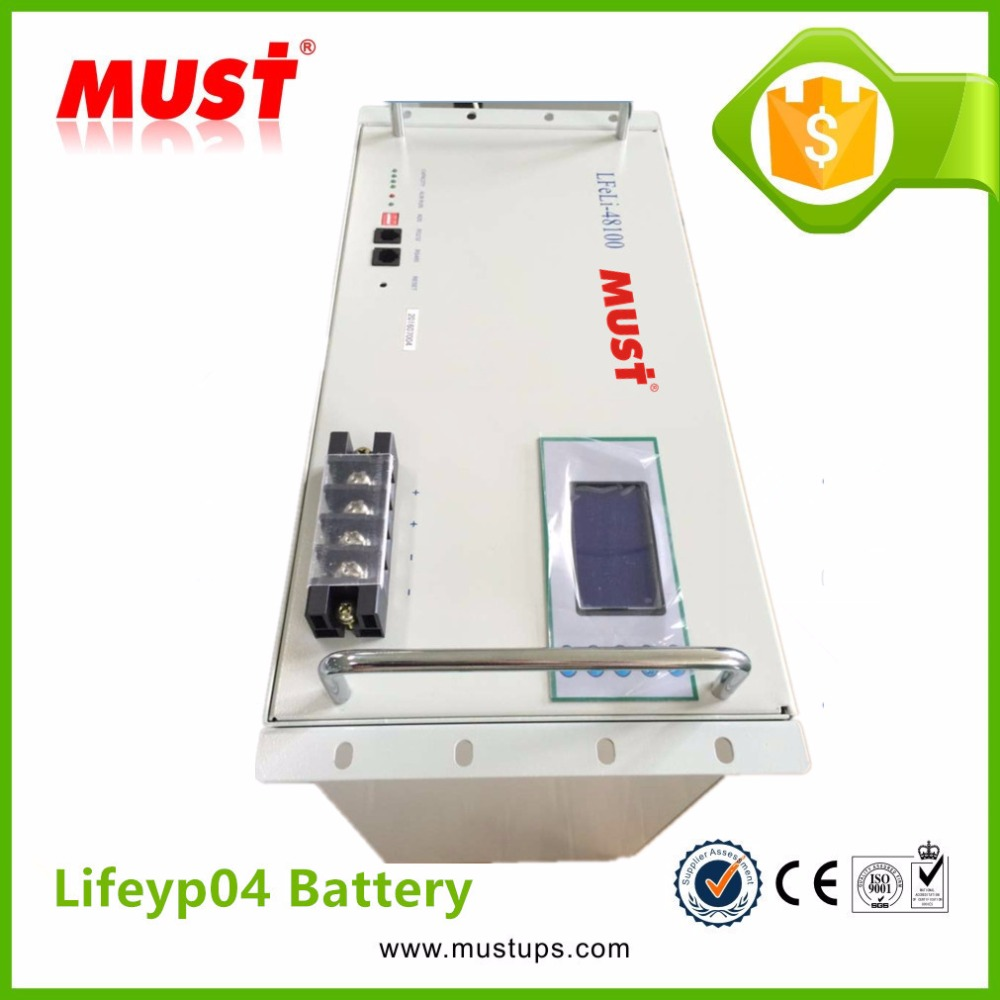 MUST Lithium Iron Phosphate Battery 100Ah Lifeyp04 Battery for Solar Inverter
