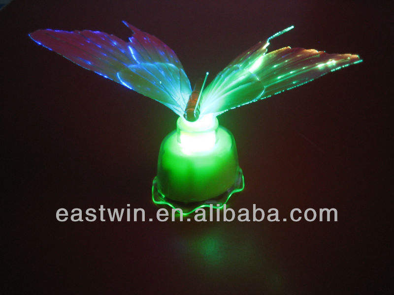Beautiful Fiber Optic Butterfly LED Color Change Night Light Lamp