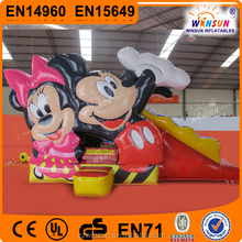 kids commercial wholesale mickey minnie mouse air jumping castle for sale