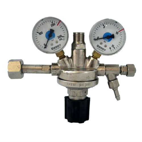 OXYGEN REGULATOR CHROMIUM PLATED