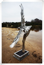 Animal Statue Modern Stainless Steel Eagle Sculpture