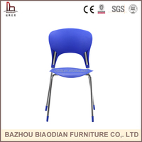 Chinese supplier home and outdoor sex stackable plastic dining chair with chromed legs for home garden furniture