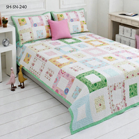 Patchwork Bedding Set luxury Pink