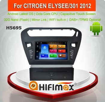 Hifimax Android 8.0 Car Radio For Citroen Elysee For Peugeot 301 2012 Car DVD Autoradio GPS Navigation System 4G RAM 32G ROM